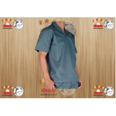 Camisa Profissional em Brim Gola Italiana